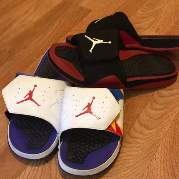 6eb1bbdb1a5935 Jordan Other - Jordan sandals men s size 13 bundle